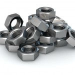 Group of metal nuts