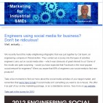 The Industrial Marketing Agency Newsletter - May 2013: Engineers using social media for business