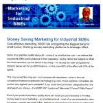 The Industrial Marketing Agency Newsletter - April 2013: Money Saving Marketing for Industrial SMEs