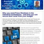 Why you need press relations in the industrial marketplace. 18th July 2017 newsletter