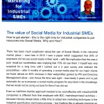 The Industrial Marketing Agency Newsletter - March 2013 : The Value of Social Media for Industrial SMEs