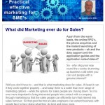 What did marketing do for sales - 6th January 2015 newsletter