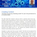 The Industrial Marketing Agency Newsletter - June 2013: Creating Content for Industrial Marketing