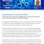 The Industrial Marketing Agency Newsletter - July 2013: Advertising for Industrial SMEs