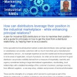 The Industrial Marketing Agency Newsletter - August 2013: How can distributors leverage their position in the industrial marketplace
