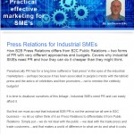 The Industrial Marketing Agency Newsletter - December 2013: Press Relations for Industrial SMEs