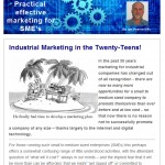 Industrial Marketing in the Twenty-Teens - February 2014 newsletter