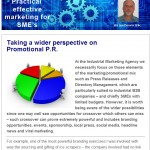 Taking a wider perspective on promotional P.R. - April 2014 newsletter
