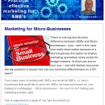 Marketing for Micro-Businesses, May 2014 newsletter from The Industrial Marketing Agency