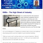 July 2014 newsletter - SMEs - the high street of industry