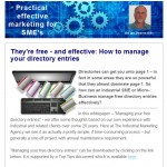 How to manage your directory entries - August 2014 newsletter