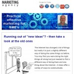 Running out of new ideas - take a look at old ones - October 2014 Newsletter