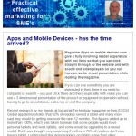Apps and Mobile Devices - has the time arrived? - November 2014 newsletter