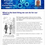 What is the best thing we can do for our clients - November 2014 newsletter
