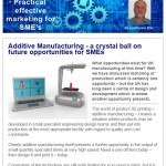 Additive Manufacturing - a crystal ball on future opportunities for SMEs - 22nd December 2014 Newsletter