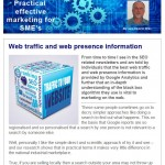 Web traffic and web presence information - 15th May 2015 Newsletter