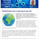 Globalisation has a long way to go yet, 5th August 2015 Newsletter