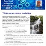 Trickle down content marketing, 22nd September 2015 newsletter