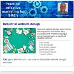 Industrial website design, 13th October 2015 newsletter