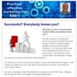 Successful? Everybody knows you?, 11th November 2015 newsletter