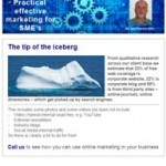 The tip of the iceberg, 25th November 2015 newsletter
