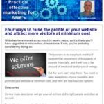 Four ways to raise the profile of your website, 13th September 2017 newsletter