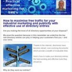 Effective use of directory entries, 3rd October 2017 newsletter